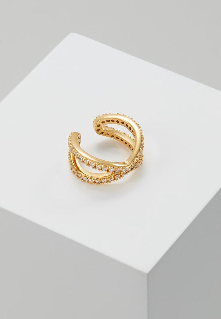 Orelia - PAVE CROSS OVER SINGLE EAR CUFF - Ohrringe - gold-coloured