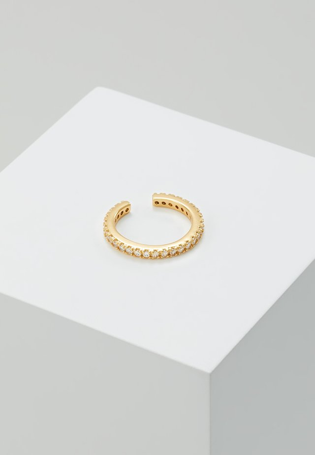 FINE PAVE SINGLE EAR CUFF - Náušnice - gold-coloured