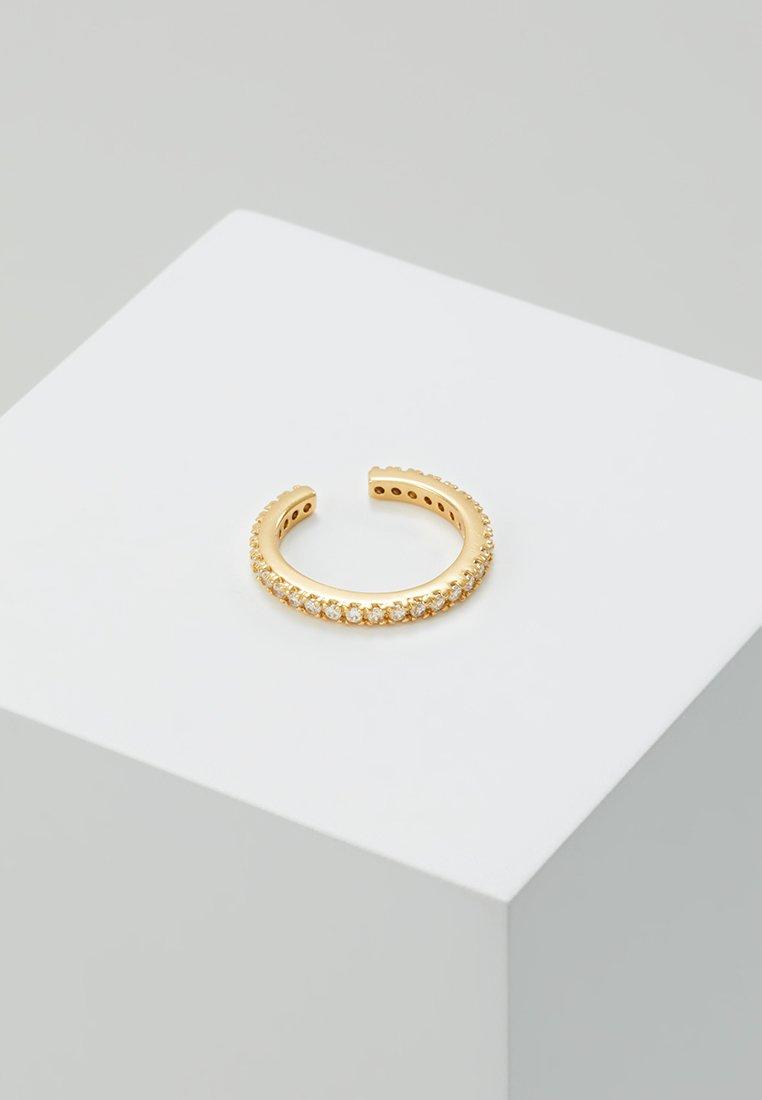Orelia - FINE PAVE SINGLE EAR CUFF - Earrings - gold-coloured