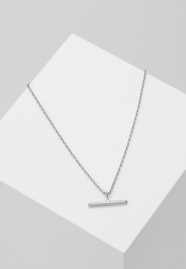 T BAR DITSY NECKLACE - Naszyjnik - silver-coloured