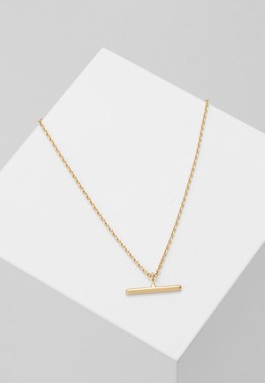 T BAR DITSY NECKLACE - Halsband - pale gold-coloured