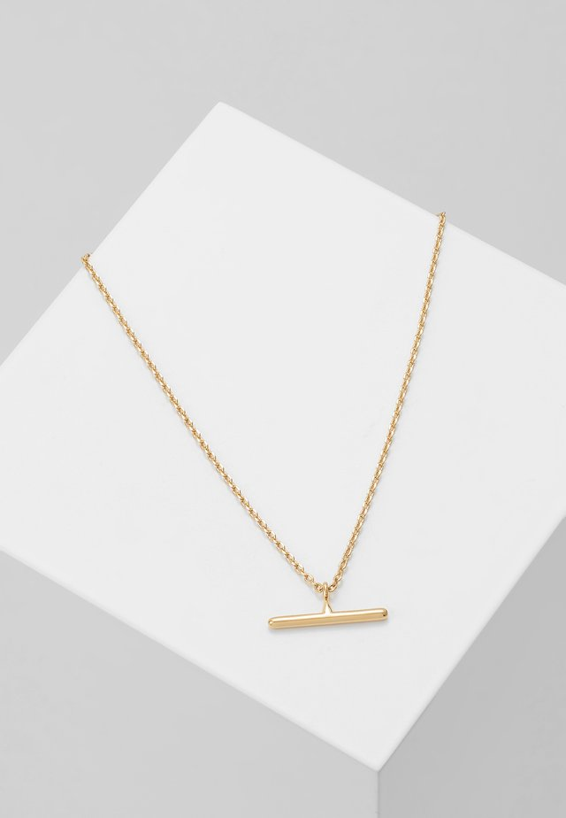 T BAR DITSY NECKLACE - Ketting - pale gold-coloured