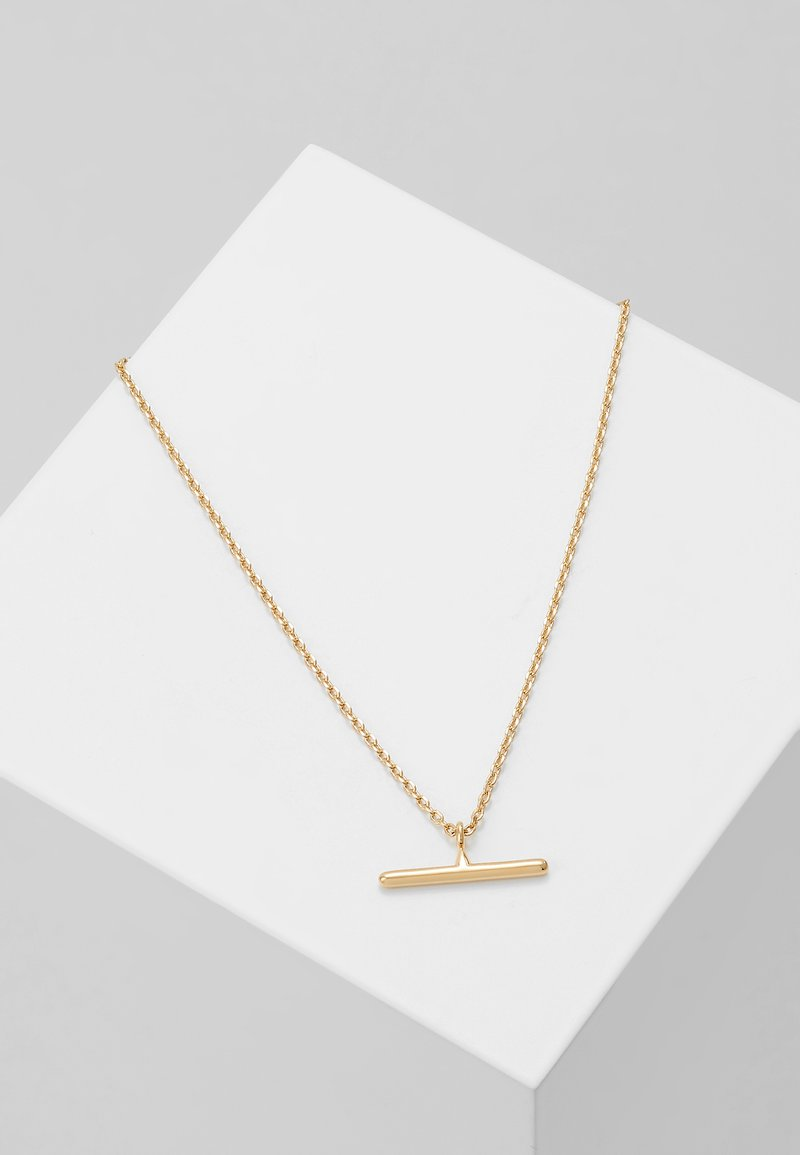 Orelia - T BAR DITSY NECKLACE - Naszyjnik - pale gold-coloured