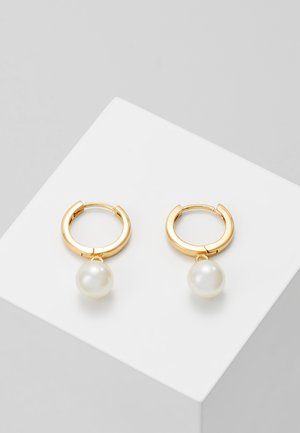 DROP HUGGIE HOOPS - Earrings - gold-coloured