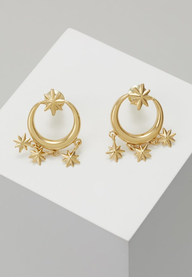 MINI STARBURST CHANDELIER EARRINGS - Earrings - pale gold-coloured