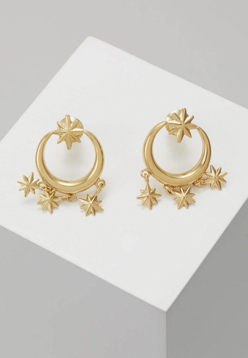 Orelia - MINI STARBURST CHANDELIER EARRINGS - Náušnice - pale gold-coloured
