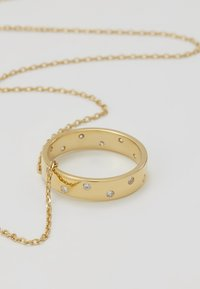 Orelia - RING THREAD THRU NECKLACE - Náhrdelník - gold-coloured - 4