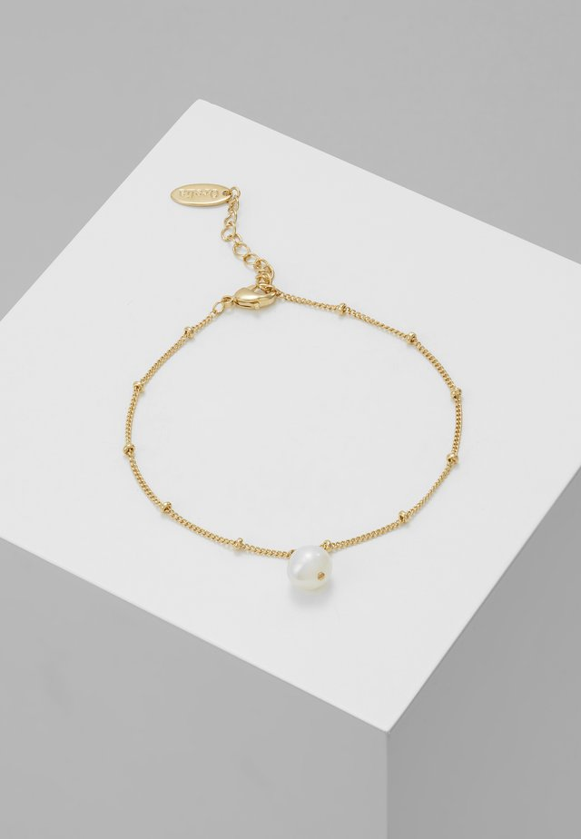PEARL DROP CHAIN BRACELET - Bransoletka - gold-coloured