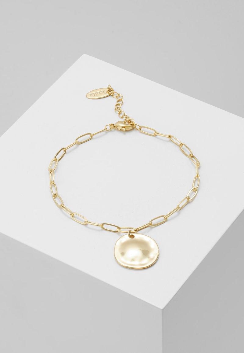 Orelia - COIN CHUNKY CHAIN BRACELET - Armbånd - pale gold-coloured