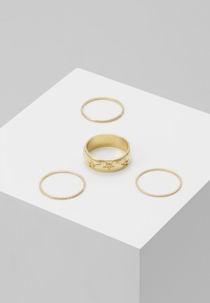 STAR ENGRAVED BAND 4 PACK - Ringar - pale gold-coloured