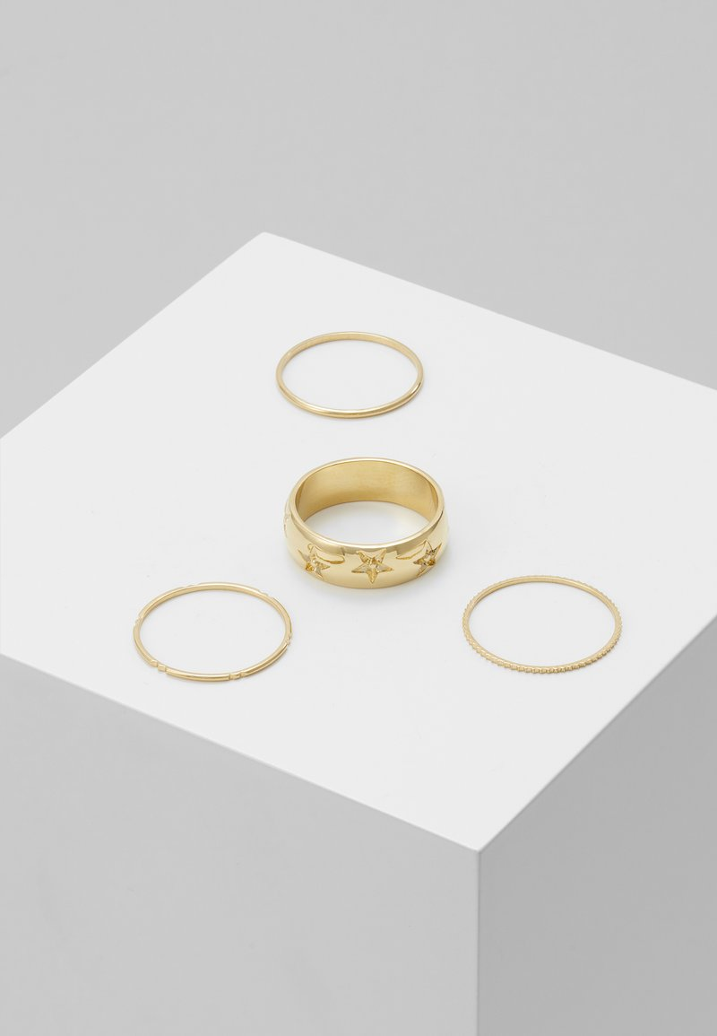 Orelia - STAR ENGRAVED BAND 4 PACK - Ring - pale gold-coloured