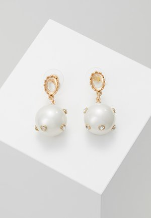 STATEMENT EMBELLISHED DROP EARRINGS - Boucles d'oreilles - gold-coloured