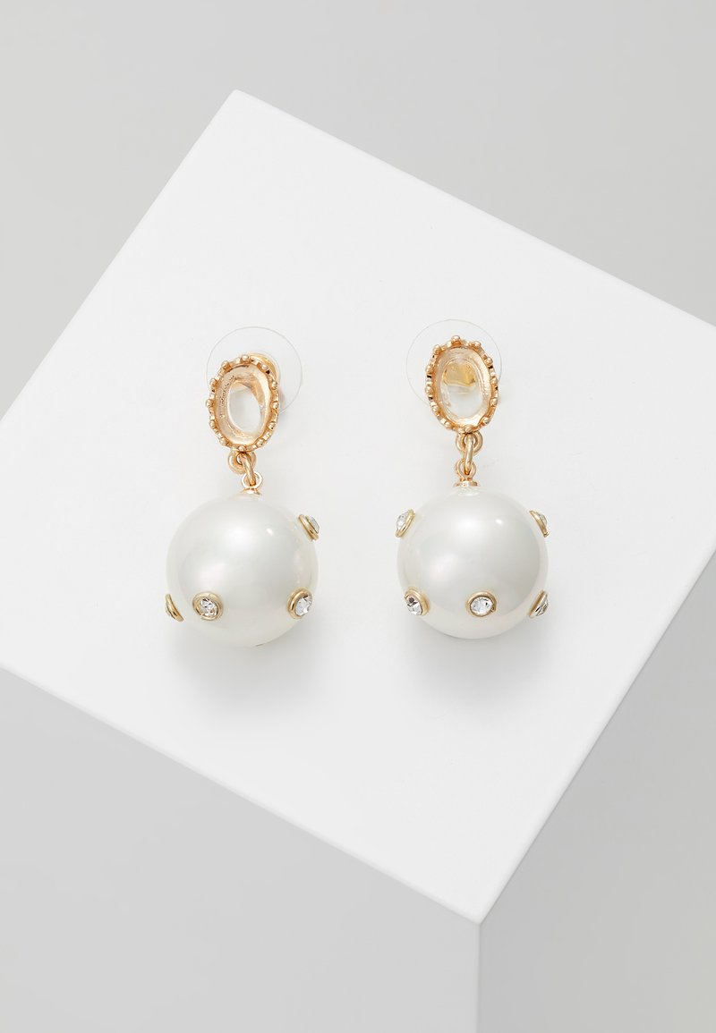 Orelia - STATEMENT EMBELLISHED DROP EARRINGS - Boucles d'oreilles - gold-coloured