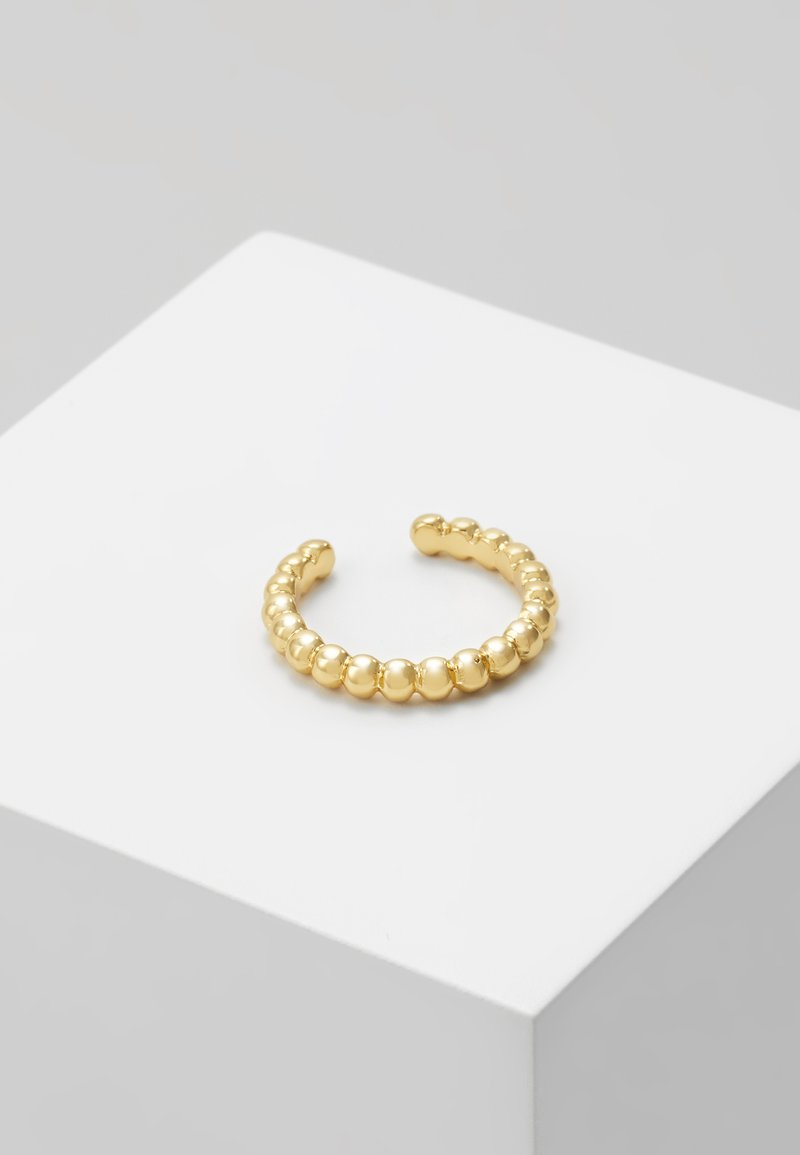 Orelia - BEADED METAL SINGLE EAR CUFF - Earrings - pale gold-coloured