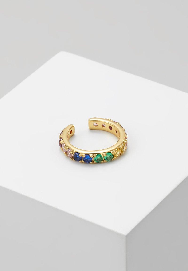 Orelia - PAVE RAINBOW SINGLE EAR CUFF - Oorbellen - pale gold-coloured