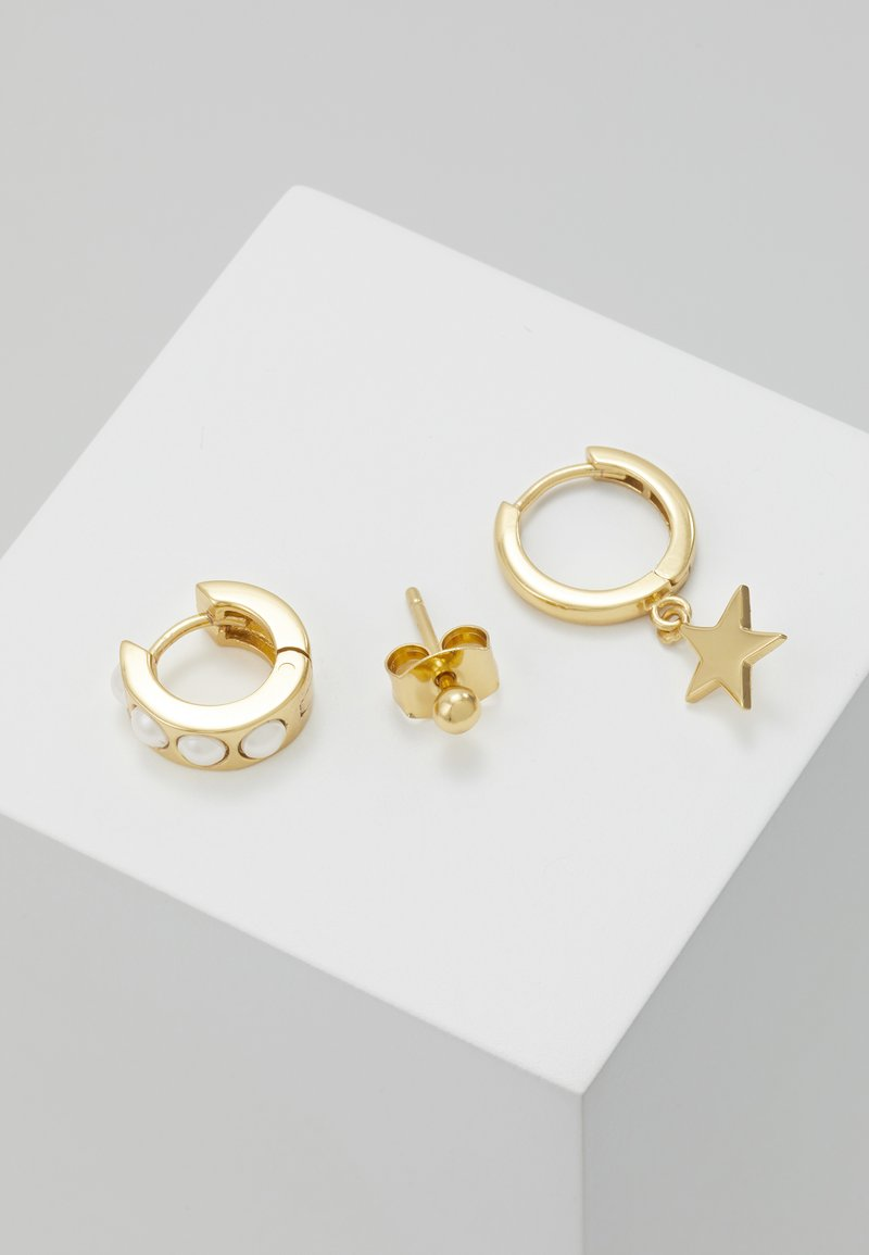Orelia - CHUNKY AND STAR EAR PARTY SET - Øredobber - gold-coloured
