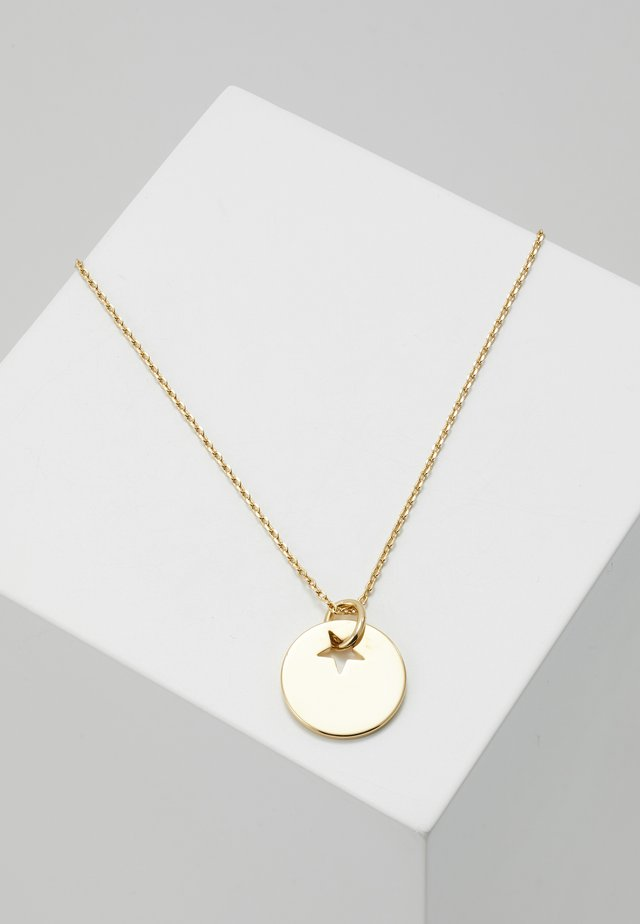 Necklace - pale gold-coloured