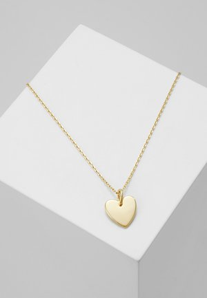 HEART CHARM GIFT POUCH - Collier - pale gold-coloured