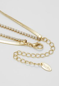 Orelia - CUPCHAIN FLAT SNAKE CHAIN 2 ROW - Necklace - pale gold-coloured - 2