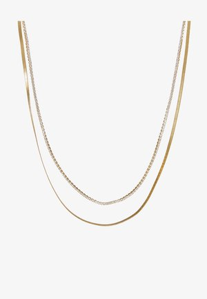 CUPCHAIN FLAT SNAKE CHAIN 2 ROW - Collier - pale gold-coloured