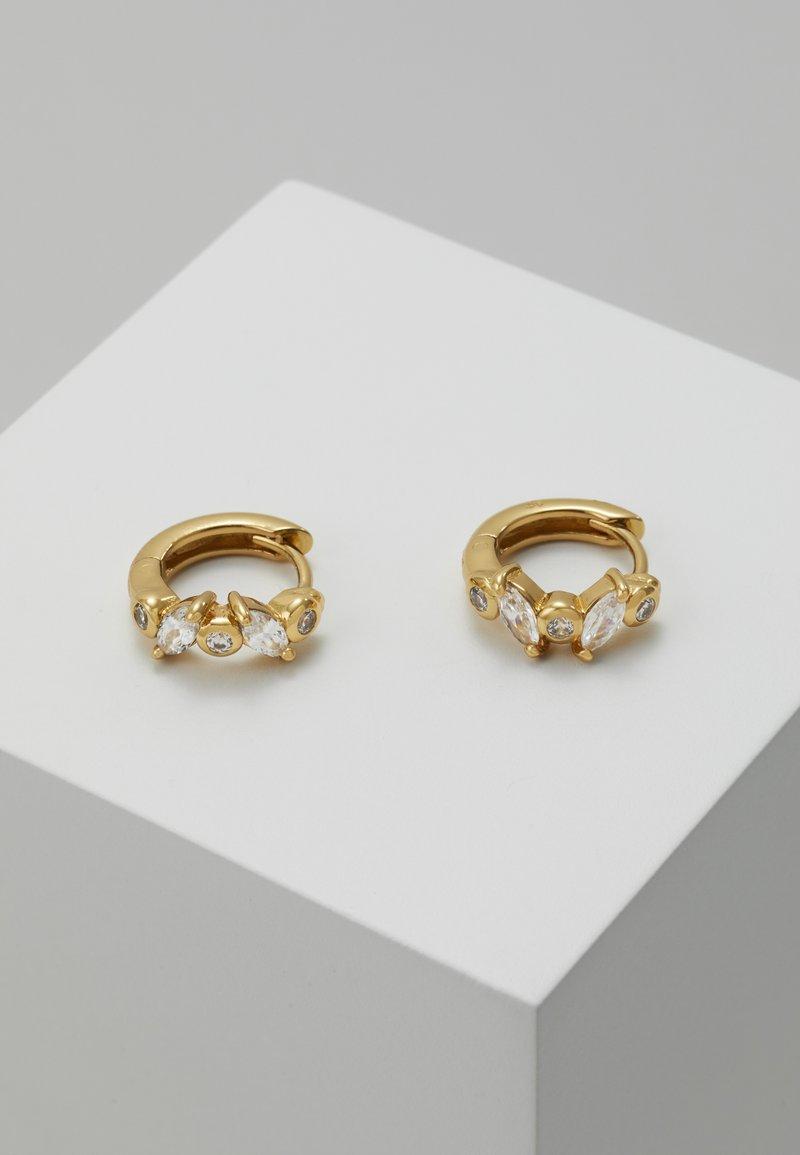 Orelia - NAVETTE HUGGIE HOOPS - Øreringe - pale gold-coloured