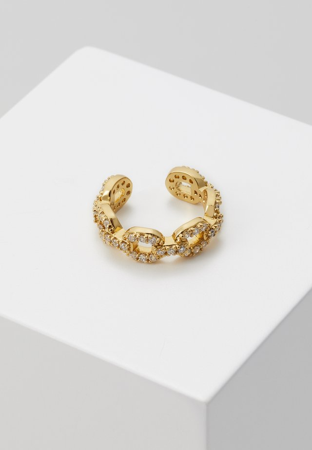 PAVE CHAIN EAR CUFF - Earrings - pale gold-coloured