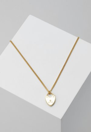 HEART PADLOCK CHARM JET GIFTBOX - Necklace - pale gold-coloured