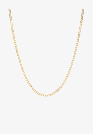 FLAT LINK CURB CHAIN SINGLE NECKLACE - Naszyjnik - gold-coloured