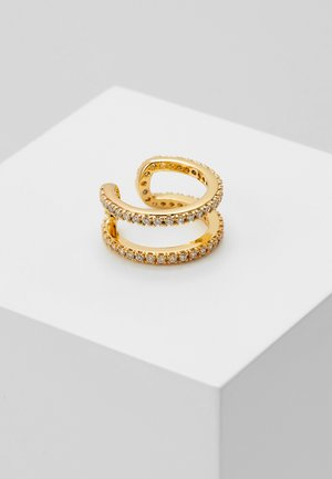 PAVE TWO ROW EAR CUFF - Earrings - gold-coloured