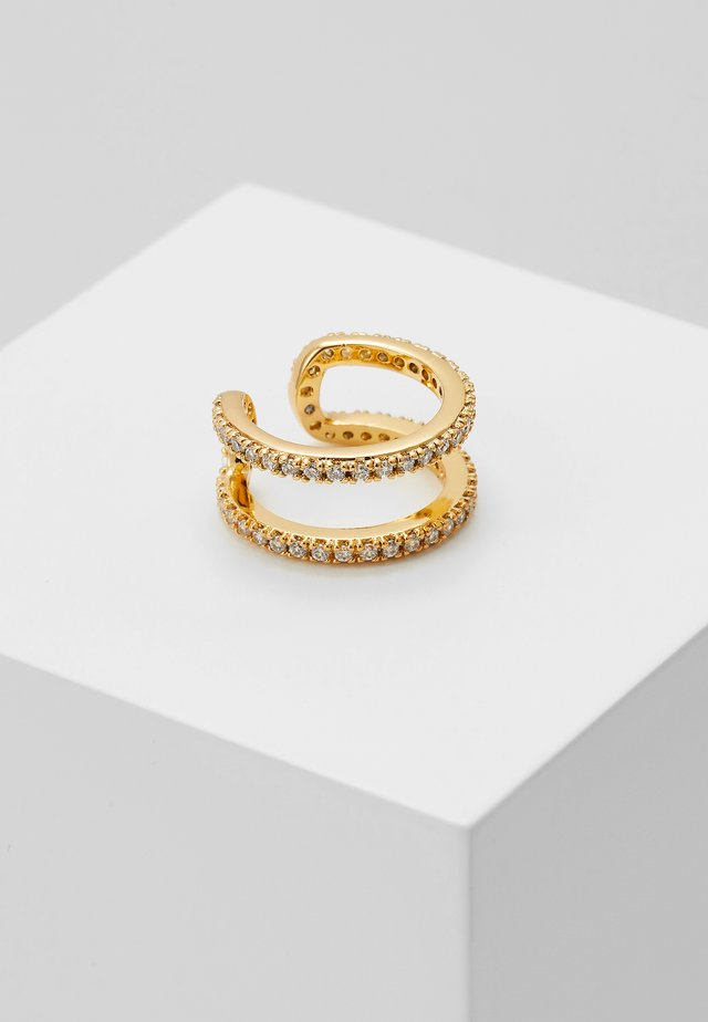 PAVE TWO ROW EAR CUFF - Ohrringe - gold-coloured
