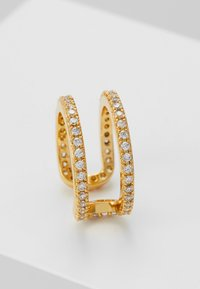 Orelia - PAVE TWO ROW EAR CUFF - Earrings - gold-coloured - 4