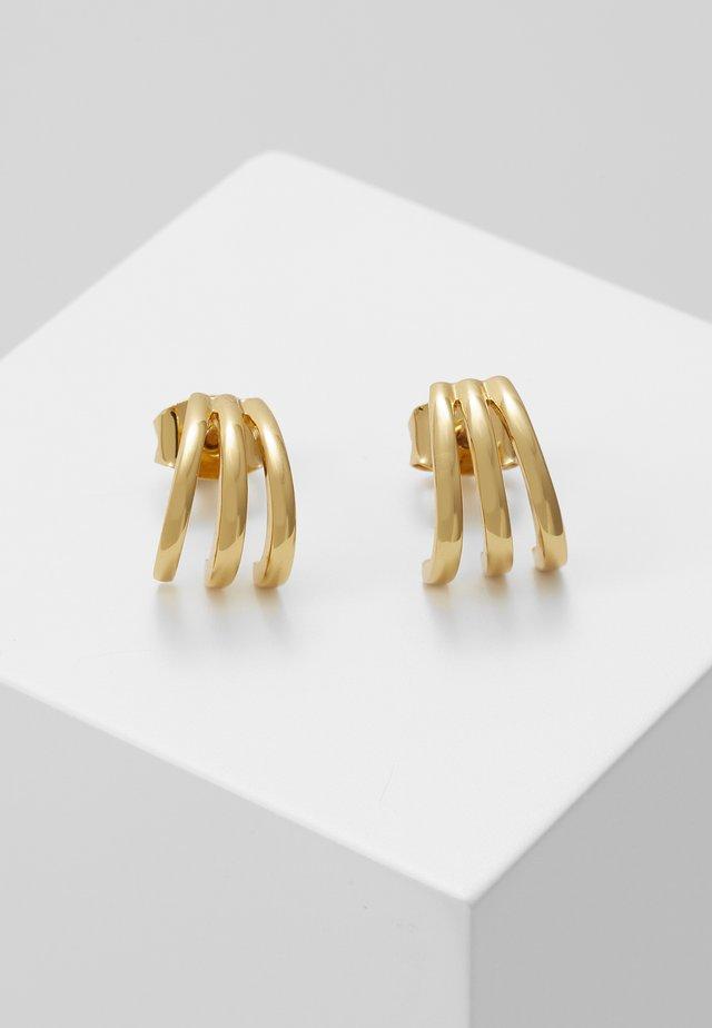 TRIPLE BAR STUD CUFF EARRINGS - Örhänge - pale gold-coloured