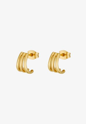 TRIPLE BAR STUD CUFF EARRINGS - Oorbellen - pale gold-coloured