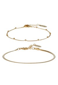 Orelia - SATELLITE AND FLAT CURB CHAIN BRACELET 2 PACK - Armband - gold-coloured - 3
