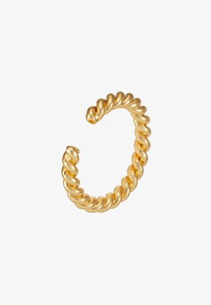 ROPE TWIST SINGLE EAR CUFF - Øredobber - pale gold-coloured