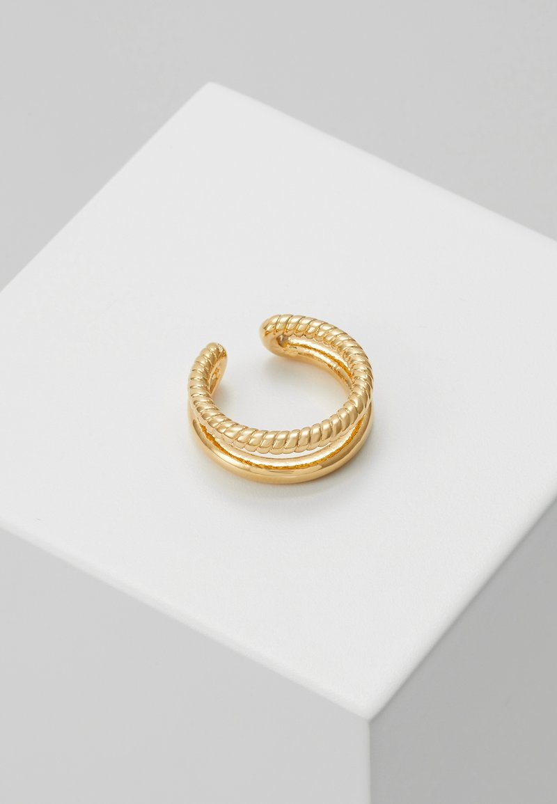 Orelia - DOUBLE EAR CUFF - Earrings - pale gold-coloured