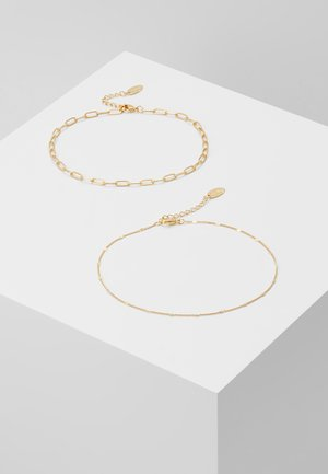 CURB FIGARO CHAIN ANKLET 2 PACK - Accessoires Sonstiges - pale gold-coloured