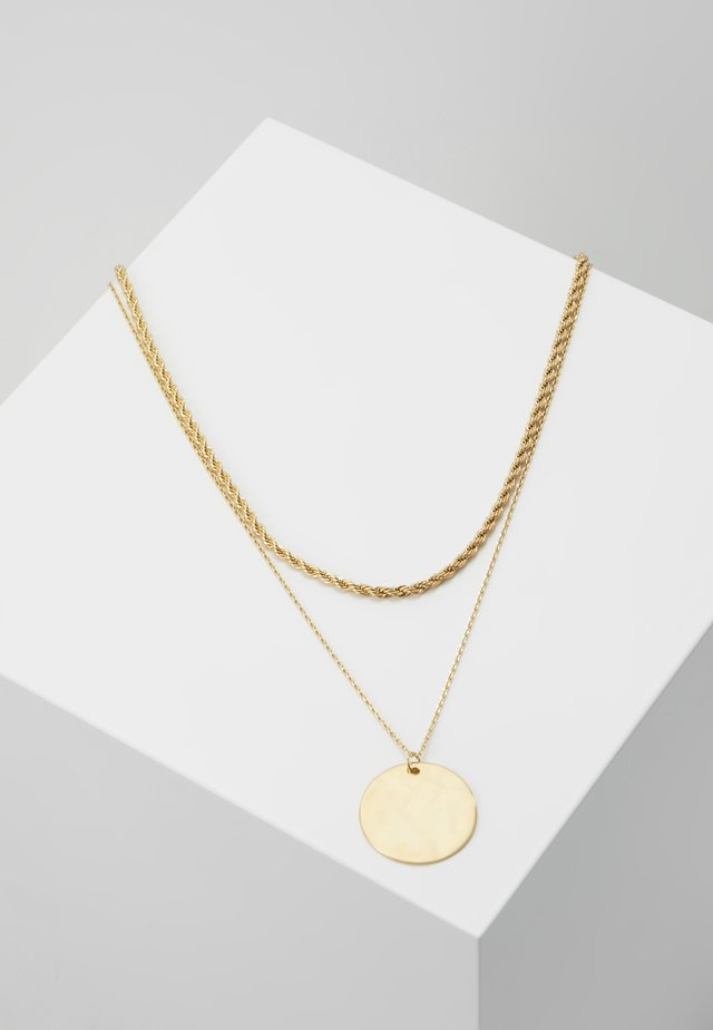 ROPE AND COIN SET - Naszyjnik - pale gold-coloured