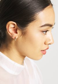 Orelia - SIMPLE STUDS HOOP EAR PARTY 3 PACK - Náušnice - pale gold-coloured - 1