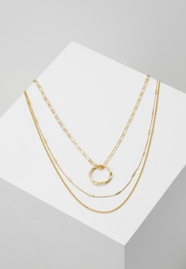 OPEN CIRCLE CHAIN 3 PACK - Necklace - pale gold-coloured