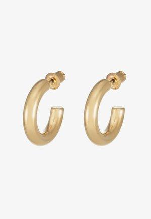 MINI CHUNKY HOOP EARRINGS - Earrings - pale gold-coloured
