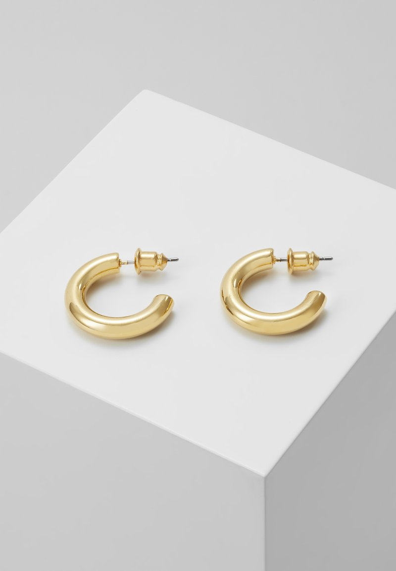 Orelia - MINI CHUNKY HOOP EARRINGS - Pendientes - pale gold-coloured