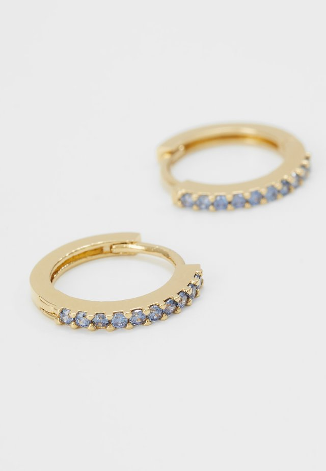 INDIAN MINI PAVE HOOPS - Ohrringe - sapphire