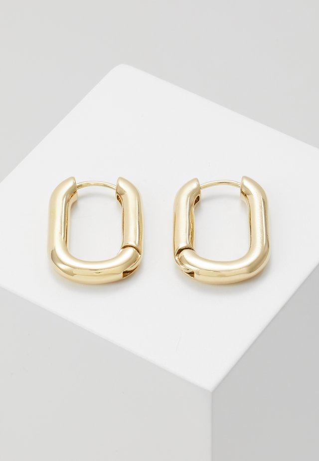 CHUNKY OVAL HOOP - Orecchini - pale gold-coloured