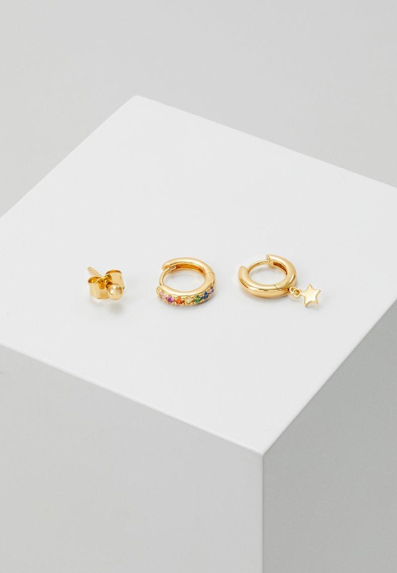Orelia - STAR EAR PARTY SET - Earrings - rainbow