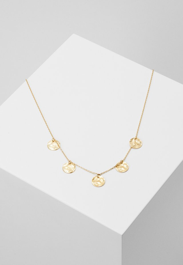 STATEMENT COIN MULTI DROP SHORT - Necklace - pale gold-coloured