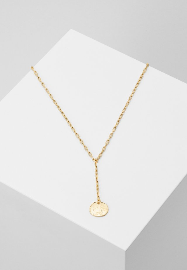 SINGLE COIN LARIAT NECKLACE - Halskette - pale gold-coloured