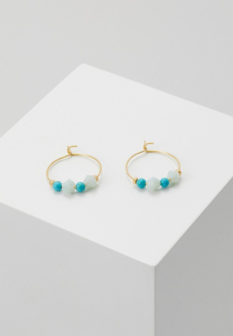 Orelia - CHIP MINI HOOP EARRINGS - Earrings - turq