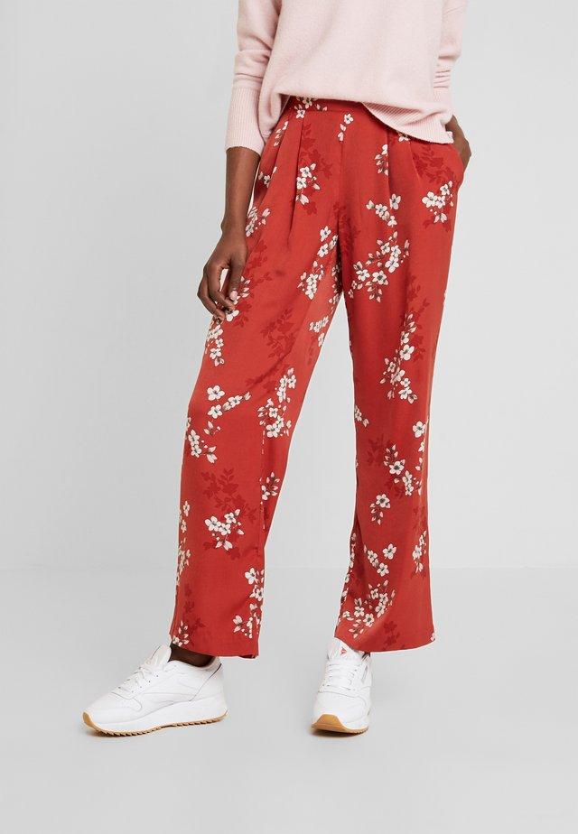 Kalhoty - red cherry bloom