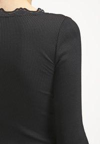 Rosemunde - SILK-MIX T-SHIRT REGULAR LS W/WIDE LACE - Top sdlouhým rukávem - schwarz - 5